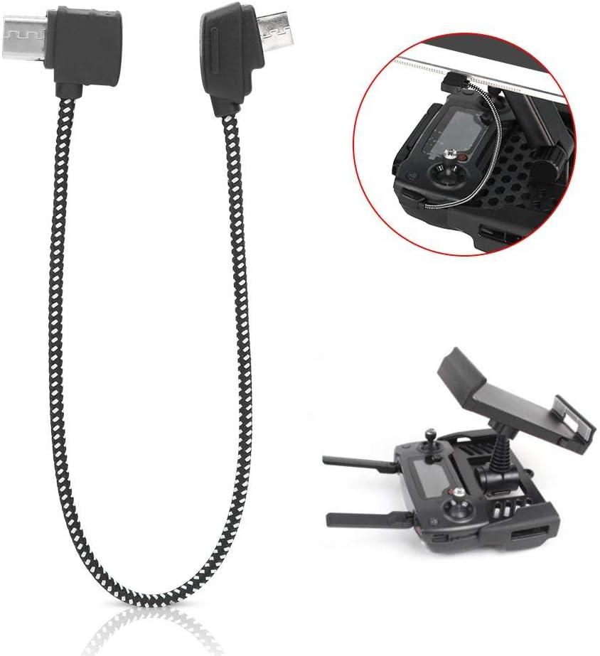 c/âble Micro-USB vers Le contr/ôleur C/âble de donn/ées 207 mm Compatible avec Drone RC DJI Mavic Mini Dilwe C/âble de donn/ées RC