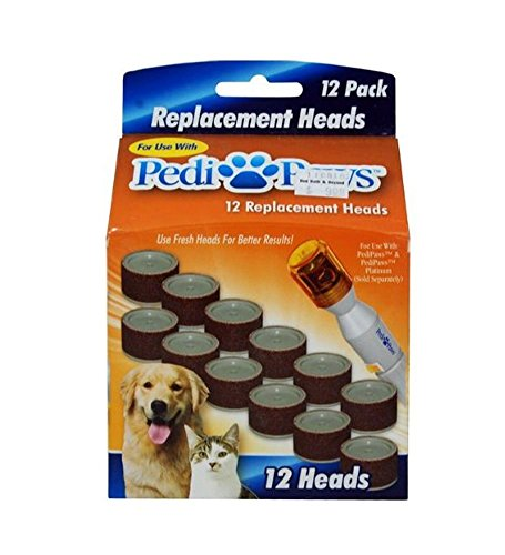 Nail Trimmer Replacement Heads - PediPaws Replacement Filing Heads 12 Replacement Heads- As Seen on TV.