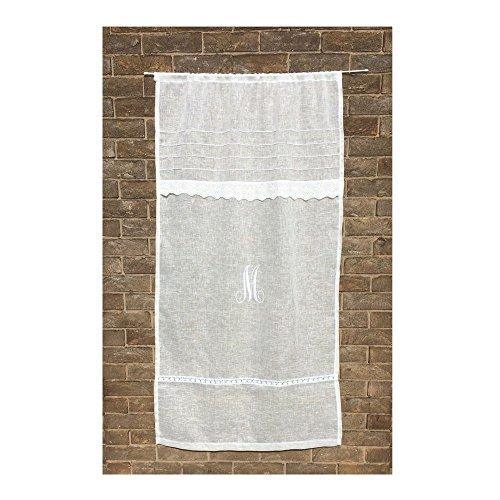 Eyelet Gauze (Personalized Custom Curtain Sheer Ivory French Linen Lace Gauze)