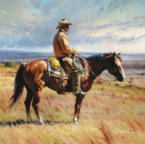 """AN AMERICAN ICON"" a GRANDE EDITION giclee on canvas by Martin GRELLE"