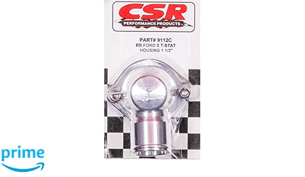 CSR Performance Products 9112C Clear Swivel Thermostat Housing for Big Block Ford