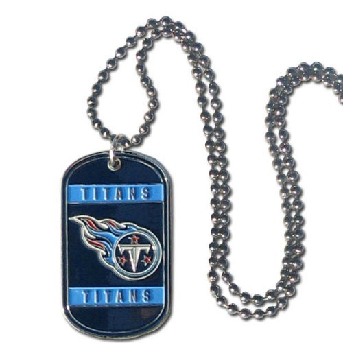 (Tennessee Titans NFL Stainless Steel Dog Tag Necklace)