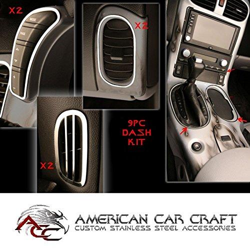 C6 Corvette Dash Trim Kit Polished Stainless Steel 9 Piece Kit Fits: All 05 thru 13 Corvettes