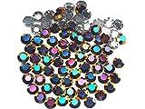 Crystal Volcano Metallic, Preciosa Genuine Czech Crystals, Rhinestone Flatbacks, ss34 (7mm) ~ 72pcs