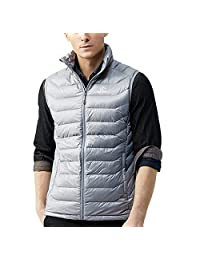 TECTOP Men's Packable Quilted Feather-down Vest Ultralight Warm puffy Down Vest