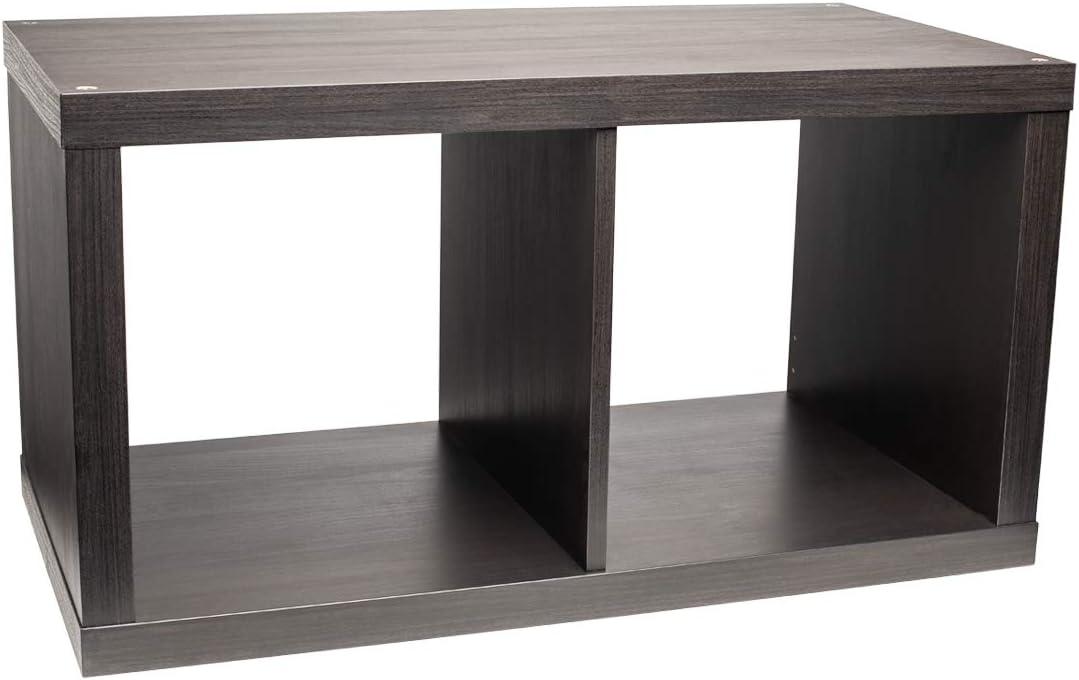 Ikea KALLAX Estantería, Marrón-Negro (77x42 cm)