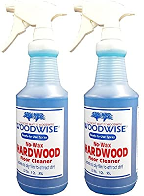 Woodwise Ready-to-Use No Wax Hardwood Floor Cleaner 32oz Spray Pack of 2
