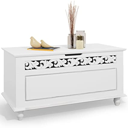 Cool Deuba Wooden Storage Chest Jersey Blanket Trunk White Toy Machost Co Dining Chair Design Ideas Machostcouk