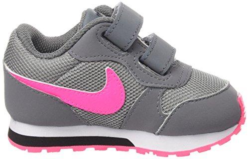 Nike MD Runner 2 (PSV) - Zapatillas Para Niña, Color Negro/Rosa/Blanco Gris / Rosa / Negro (Cool Grey / Hyper Pink-Black)