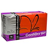 ConfiDry 24/7 Dry Care Max Absorbency Adult Brief Diapers, Small, 18 Count