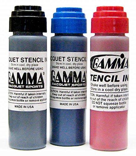 Gamma Racquet Stencil Ink, Blue (Gamma Racquet)