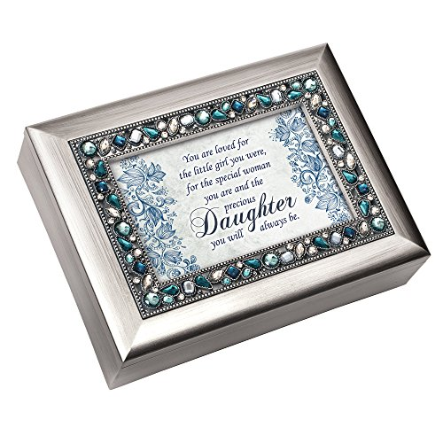 Special Woman Precious Daughter Jeweled Silver Colored Keepsake Music Box Plays You Light Up My Life