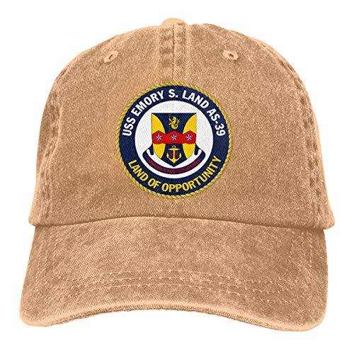 USS Emory S Land AS-39 Cowboy Hats Classic Baseball Cap Denim Hats Dad Hat -