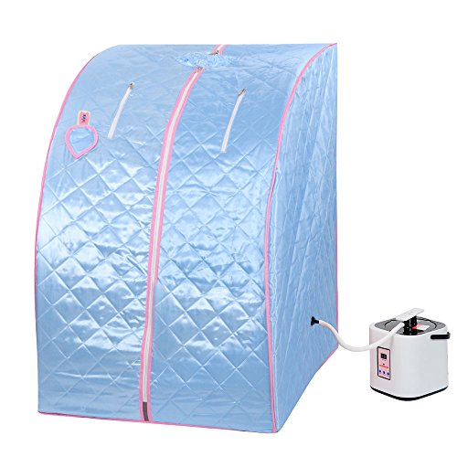 [Blue 2L Portable Home Steam Sauna Spa Slimming Full Body Detox Therapy Loss Weight] (Traditional Russian Outfits)