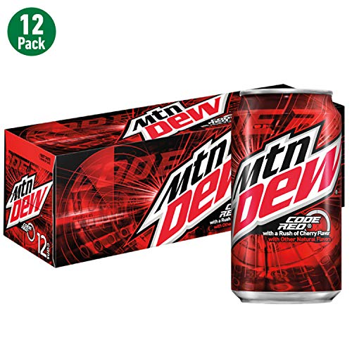 Mountain Dew Code Red Cans (12 Count, 12 Fl Oz Each)