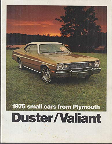 (Plymouth Duster & Valiant brochure 1975 Gold Duster 360 Brougham Scamp)