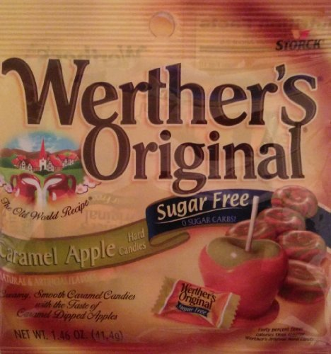 Werther's Sugar Free Caramel Apple Candy, 1.46 oz (Pack of -