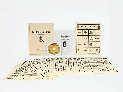 Manual Jukebox (Music Bingo 3(Jukebox Edition)- by Elder Group Games(Fun, Engaging Activity for All Senior Citizens))