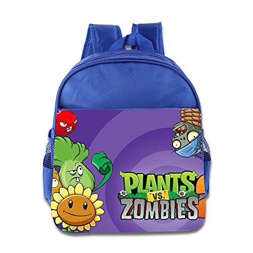 Kids Plants Vs. Zombies School Backpack Cute Children School Bag RoyalBlue