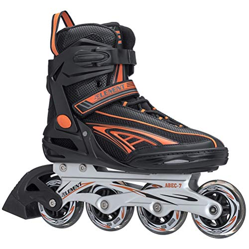 5th Element Panther XT Mens Recreational Inline Skates - 10.0/Black-Orange
