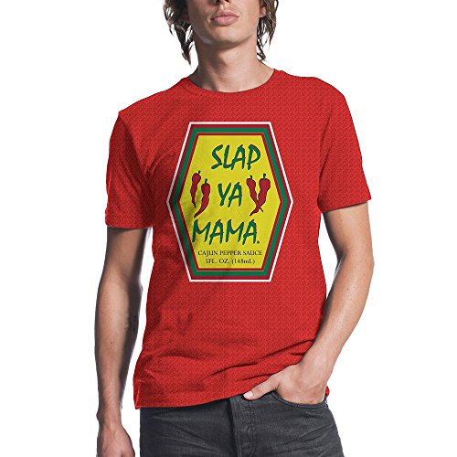 SLAP YA MAMA Sauce Logo Adult T-Shirt (Large) (Slap Pop)