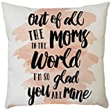 Pillow case Protector with Zipper,EOWEO Happy Mother's Day Sofa Bed Home Decoration Festival Pillow Case Cushion Cover(43cm×43cm,D)