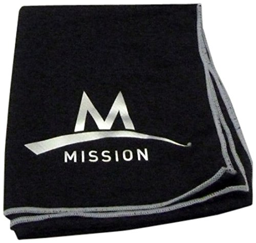 Mission Enduracool Techknit Cooling Towel Black OS by Mission (Image #1)