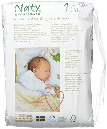 Large Product Image of Naty Diapers - Size 1-26 ct