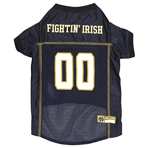 NCAA Pet Jersey. - Football Licensed Dog Jersey. - Many College Teams Available. - Comes in 6 Sizes. - Football Pet Jersey. - Sports Mesh Jersey. - Dog Jersey Outfit. - NCAA Dog Jersey