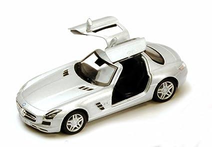 Amazon Com Mercedes Benz Sls Amg Silver Kinsmart 5349d 1 36