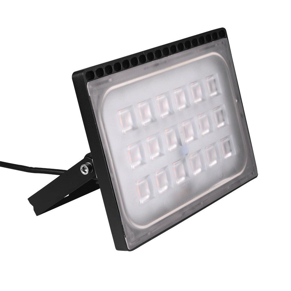 4 Stück 100W LED Fluter, HimanJie Ultra Dünn Warmweiß 3000K LED ...