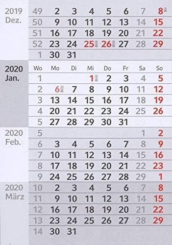 HiCuCo 4-Monats-Kalendarien (magnetische Kalenderblöcke) für 2 Jahre (2021+2022) passend für Tischkalender Edelstahl TypA