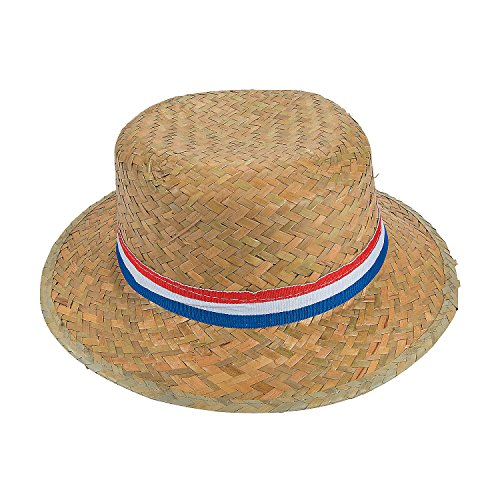 (Fun Express - Patriotic Skimmer Hats for Fourth of July - Apparel Accessories - Hats - Party Hats - Fourth of July - 12 Pieces)