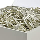 "Hallmark 7"" White Gift Box with Lid and Shredded"