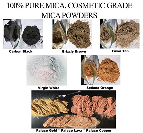 Pearlescent Mica Powder Pigments, 100% Pure FINE MICA, A Full 4oz./113grams (Sometimes More) of Each Color in This Set of 8! Cosmetic Grade, Brilliant Shimmering Colors