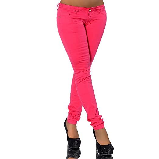 G539 Damen Jeans Hose Hüfthose Damenjeans Hüftjeans Röhrenjeans Röhrenhose Röhre