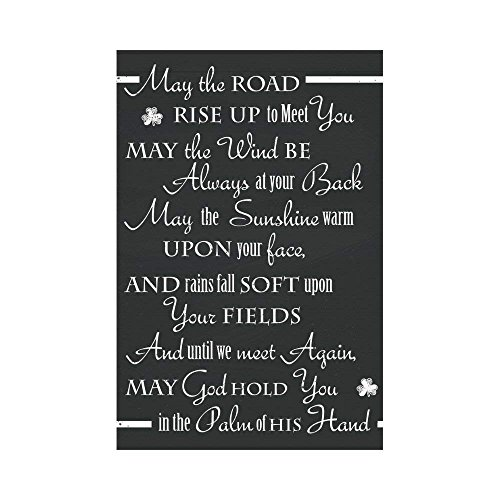 Afagahah St.Patrick's Day Polyester Garden Flag House Banner an Old Irish Saying Decorative Flag for Party Yard Home Outdoor Decor -