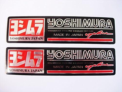 3D red chrome YOSHIMURA stickers decals aufkleber set of 2 pieces