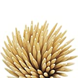 Sturdy bamboo sticks 300 pcs for caramel candy apple corn dog hotdog skewers cake candy lollipops | semi-pointed tips and chamfered ends for safe and smoothly hand feel | 7 inch X 5 mm 100pcs per bag