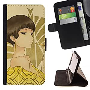 DEVIL CASE - FOR Sony Xperia m55w Z3 Compact Mini - Japanese Anime Geisha Girl - Style PU Leather Case Wallet Flip Stand Flap Closure Cover