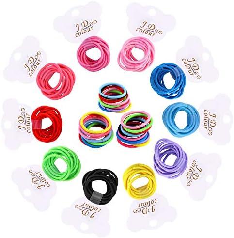 Fascette elastiche per capelli sottili 100 mini mini mini mini elastici per coda di cavallo senza accessori per capelli in metallo per bambine e bambini