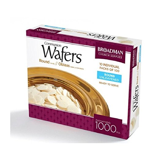 Broadman Church Communion White Wafers - Cross Design (1 - 1/8
