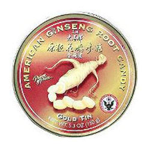 American Ginseng Root Candy - Gold Tin -120 GRM