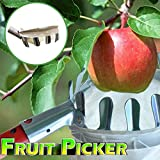 m·kvfa Outdoor Fruit Picker Apple Orange Peach Pear Practical Garden Picking Tool Bag Fruit Picker Basket to Prevent Dropping Tree Fruits Picking Head Harvesting Tool Picking Device