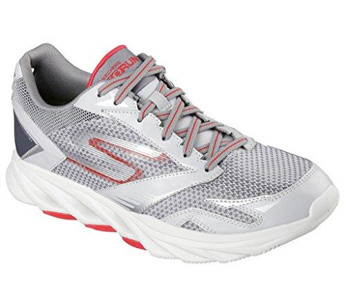 Skechers Performance Men's Go Run Vortex Golf Shoe, Light Gray/Red, 11.5 M US