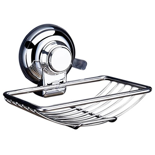 85%OFF Soap Holder - TOOGOO(R)Stainless Steel Soap Dishes Suction Cup Hook Holder Soap Bath