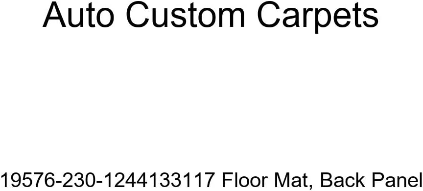 Auto Custom Carpets 19576-230-1244133117 Floor Mat Back Panel