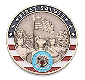 Coast Guard First Salute Challenge Coin - United States Coast Guard Challenge Coin - Amazing USCG Military Coin - Designed By Military Veterans! by Coins For Anything Inc