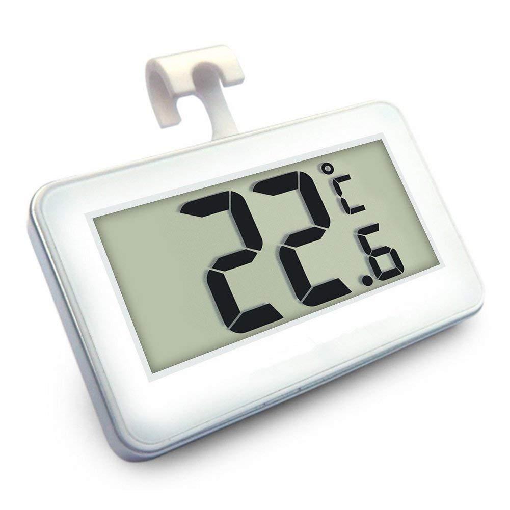 Color Blanco Mini LCD digital resistente al agua Frigor/ífico Congelador term/ómetro port/átil Frost Alarma Temperatura Monitor Romote Suo SI Frigor/ífico Term/ómetro