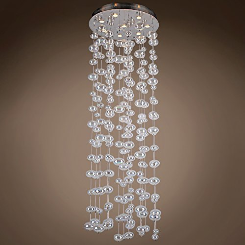 Bubbles 8 Light Flush Mount Chandelier Light in Chrome